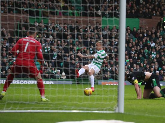 Narrow win for Celtic as Leigh Griffiths makes his mark against former club