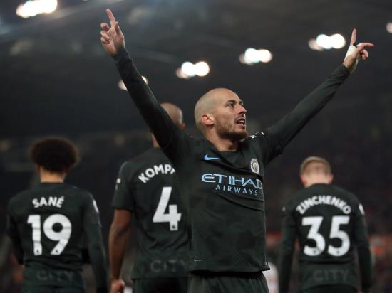 Stoke City 0-2 Manchester City: David Silva's brace fires Manchester City ever closer to Premier League title