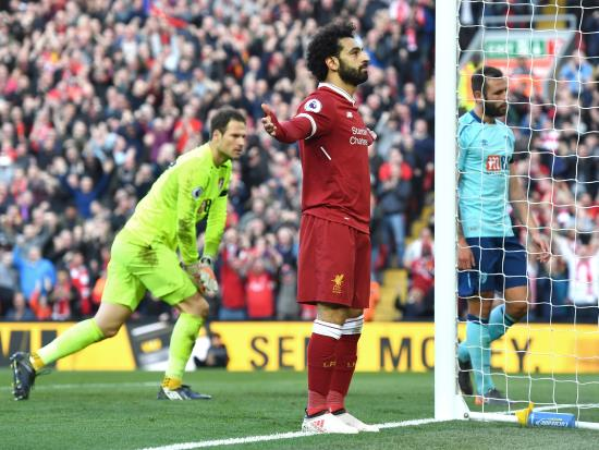 Liverpool 3 - 0 AFC Bournemouth: Unstoppable Salah makes it 40 for the season as Reds sweep aside Bournemouth