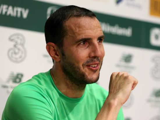 Republic of Ireland vs USA - John O'Shea has one eye on management