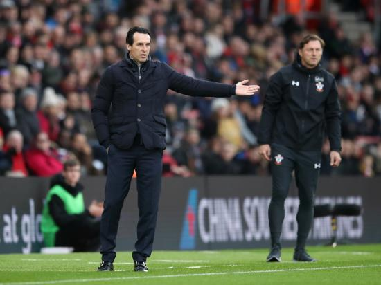 Emery: Slip-ups mean Arsenal risk losing race for Europe