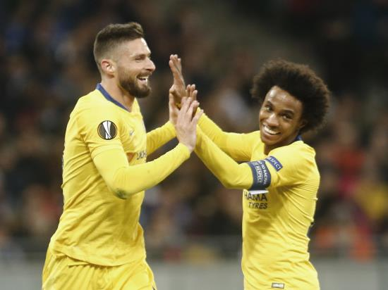 Giroud hat-trick guides Chelsea into quarter-finals with Kiev thrashing