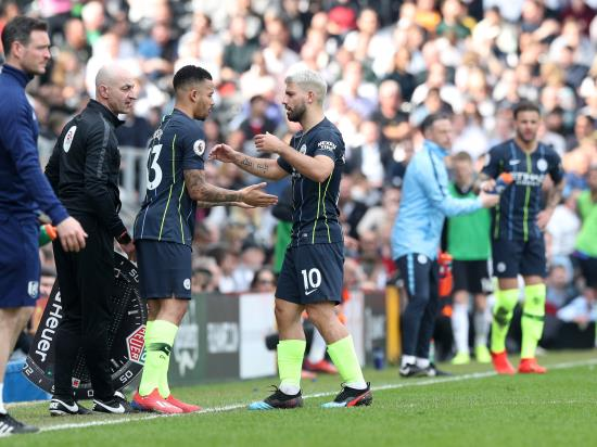 Pep Guardiola hopeful there is no serious injury for Sergio Aguero
