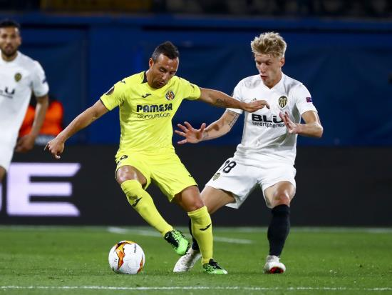 Valencia score two late goals to take command of Villarreal tie