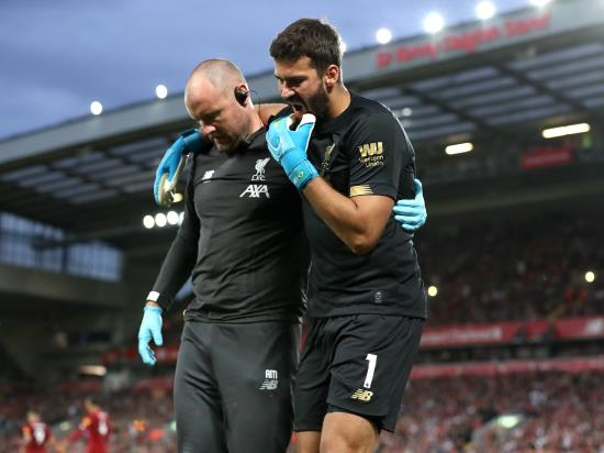 Liverpool vs Arsenal - Alisson and Keita still sidelined for Liverpool