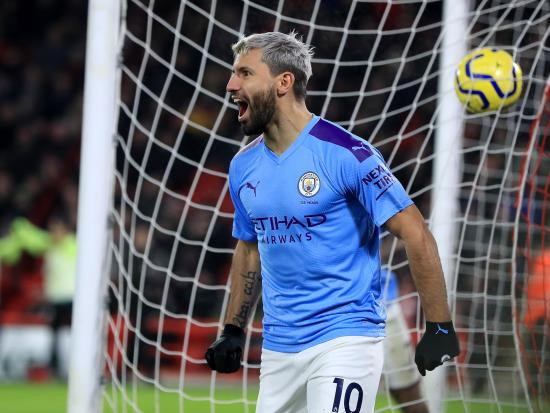 Substitute Sergio Aguero gives Man City hard-fought victory over battling Blades