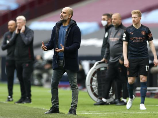 Pep Guardiola puts Man City's struggles down to injuries and hectic schedule