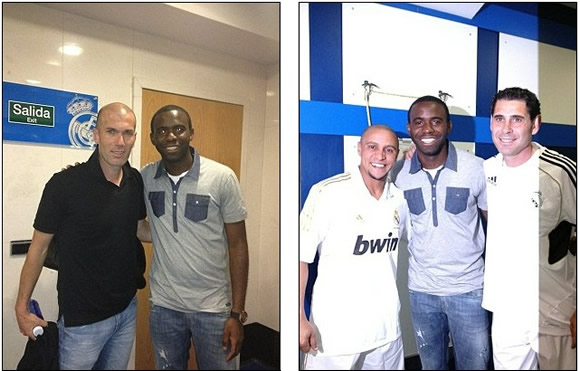 Muamba guests at Man United and Real Madrid legends charity match