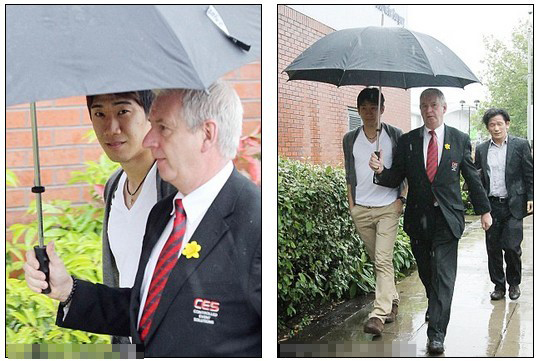 Welcome to Manchester! Summer shower greets United new boy Kagawa for medical