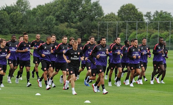 Who needs Van Persie? Arsenal return to training with captain's future up in the air