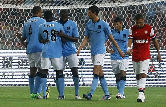 Arsenal 0 Manchester City 2: Toure and Zabaleta strike in the Bird's Nest