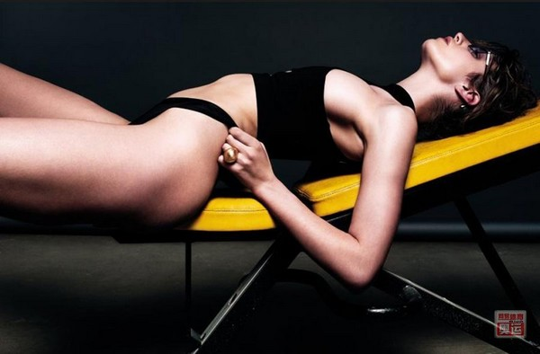 The supermodel takes sexy pics to support for the 2012 Olympics