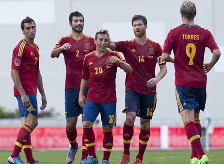 New Arsenal signing Cazorla strikes for Spain as Messi and Di Maria sink sorry Germans