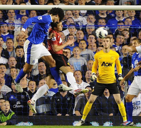Everton 1 Manchester United 0: Fellaini's head start - Everton's top gun upstages RVP to shock United