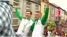 Irish Olympic medallists receive homecoming parade