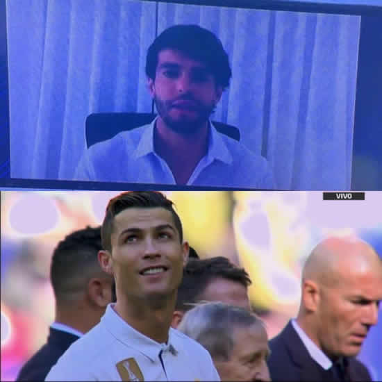 Real Madrid's Cristiano Ronaldo loved Kaka's big screen Ballon D'Or message