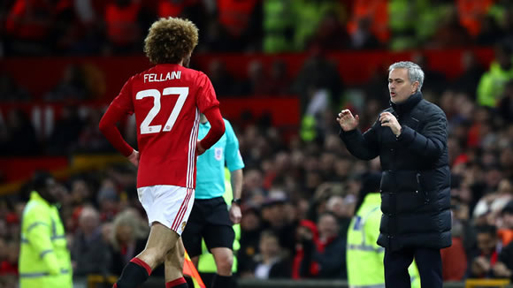 Jose Mourinho criticised Manchester United players for celebrating Juan Mata goal