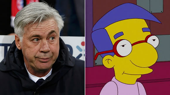 Carlo Ancelotti says he can't control his eyebrows