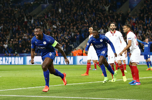Leicester City 2 - 0 Sevilla: Leicester sink Sevilla to reach Champions League quarter-finals