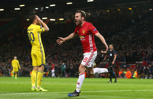 Manchester United 1 - 0 FK Rostov: Juan Mata on target as Manchester United reach Europa League quarter-finals