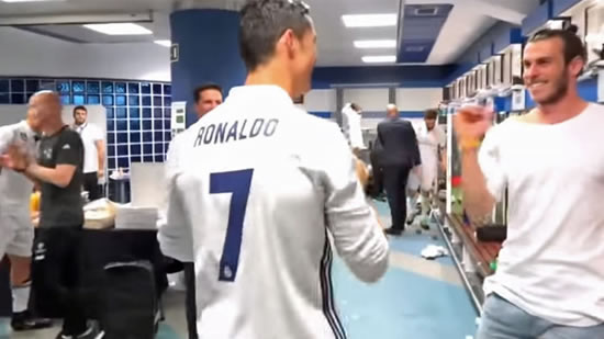 Real Madrid dressing room gave Cristiano Ronaldo an ovation