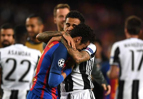 REVEALED: How Dani Alves consoled Neymar after Champions League exit