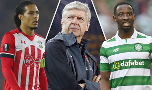 Arsenal EXCLUSIVE: Arsene Wenger eyeing double swoop for Mousa Dembele and Virgil Van Dijk