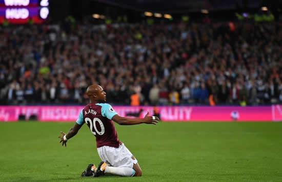West Ham United 2 - 0 Huddersfield Town: Slaven Bilic's Hammers up and running in league with victory over Huddersfield