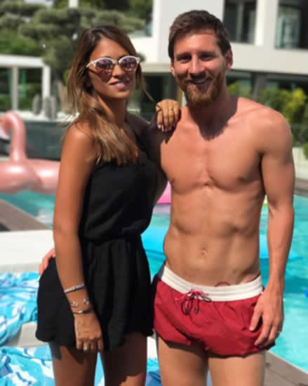Lionel Messi has a new tattoo of his wife Antonella Roccuzzo's lips… next to the Barcelona superstar's GROIN