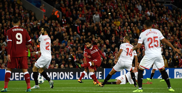 Liverpool 2 - 2 Sevilla: Liverpool pegged back by Sevilla on Champions League return