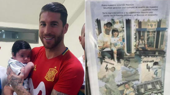 Sergio meets Ramos, the newborn son of a murdered Israeli policeman