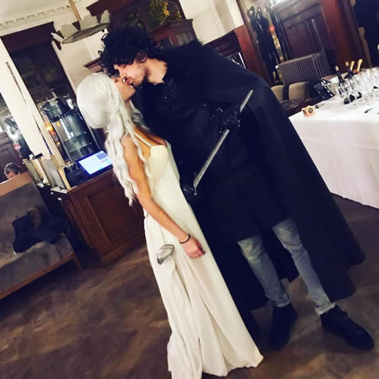 Morgan Schneiderlin and wife Camille dress up as Game of Thrones characters as they celebrate his 28th birthday