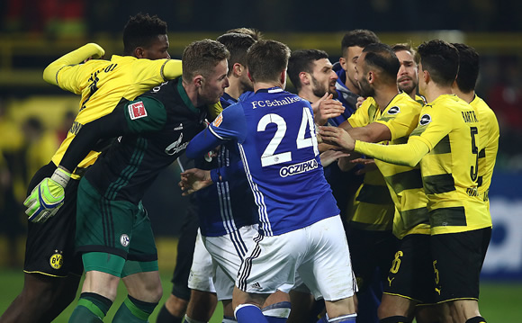 Borussia Dortmund 4 - 4 Schalke 04: Borussia Dortmund throw away four-goal lead to draw with rivals Schalke
