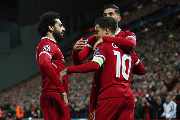 Liverpool 7 - 0 Spartak Moscow: Magnificent seven from Liverpool as Spartak Moscow suffer Anfield mauling