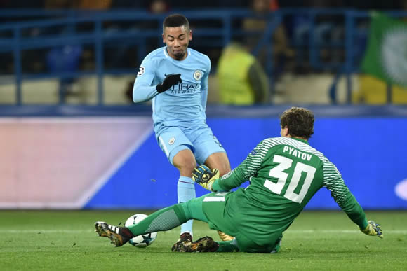 FC Shakhtar Donetsk 2 - 1 Manchester City: City's winning run ends with defeat to Shakhtar