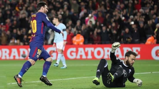 Barcelona 5-0 Celta Vigo - Messi double as Barcelona cruise into quarter-finals