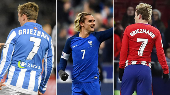 Barcelona keep the No.7 shirt free... for Griezmann?