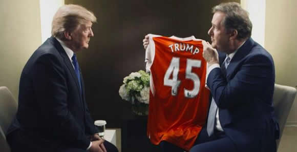 'He'd build a strong defensive wall' - Morgan invites Trump to be Arsenal manager!