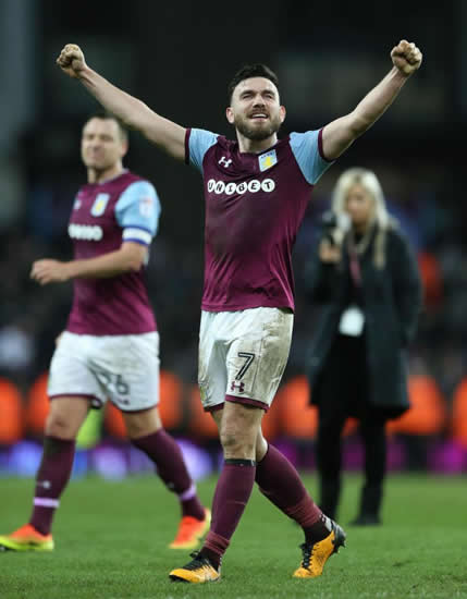 Aston Villa star Robert Snodgrass pranked by team-mates with trainers super-glued to locker