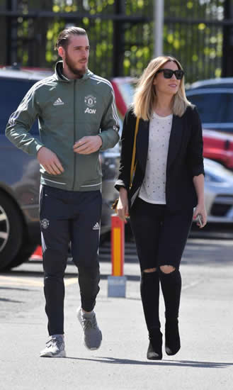 Manchester United WAGS turn out in force at Old Trafford to back the players in season finale