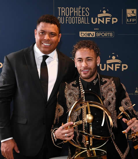 Neymar wins Ligue 1 player of the year award and gets gong from Brazil legend Ronaldo