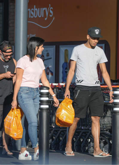 Liverpool new-boy Fabinho pops to Sainsbury's with wife Rebeca Tavares as he prepares for his first Reds training session