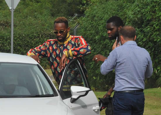 Celtic stars Moussa Dembele, Olivier Ntcham and Odsonne Edouard involved in car crash as Range Rover ends up in bushes close to Irn-Bru factory