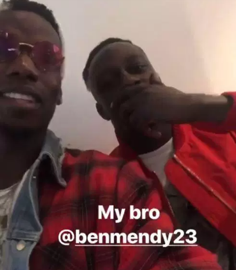 Manchester United midfielder Paul Pogba puts rivalry aside as he hangs out with City duo Benjamin Mendy and Rihad Mahrez before dinner with own team-mates