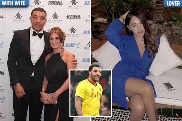 Premier League star Troy Deeney exposed as love rat on Instagram by furious wife after he dumps her for model