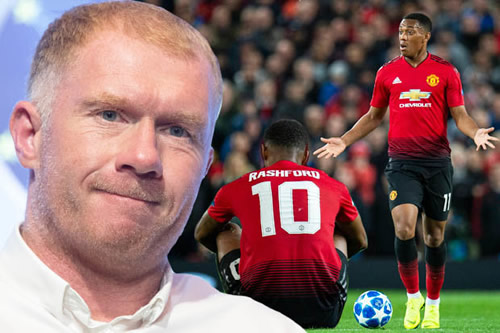 Paul Scholes blasts Anthony Martial and Marcus Rashford as potential talent