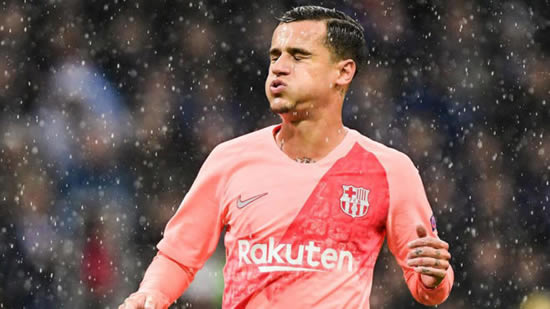 Coutinho will be out injured for between two and three weeks