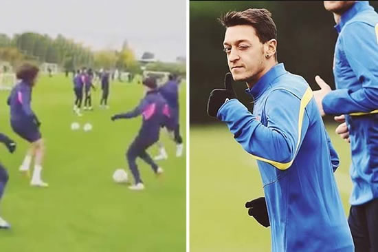Arsenal star Mesut Ozil labelled 'DISRESPECTFUL' for what he did to youngster in training