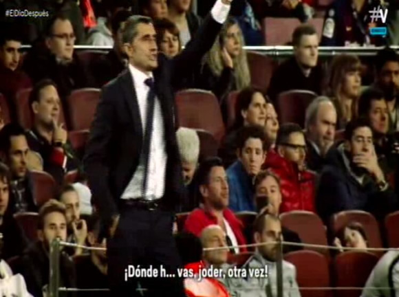 Valverde to Pique: Where are you? F***, again?