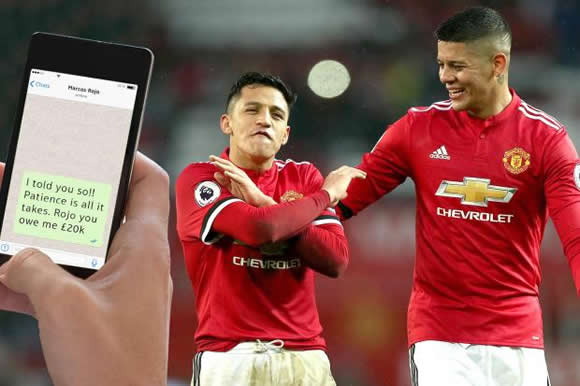 Tokeo la picha la 'I TOLD YOU SO!' Alexis Sanchez bet £20k with Rojo Mourinho would be fired then told United team-mates 'See, I told you to be patient'